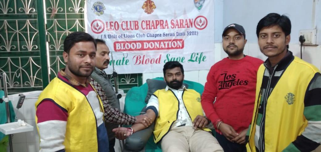 लियो क्लब छपरा सारण के अध्यक्ष ने किया 11वीं बार रक्तदान