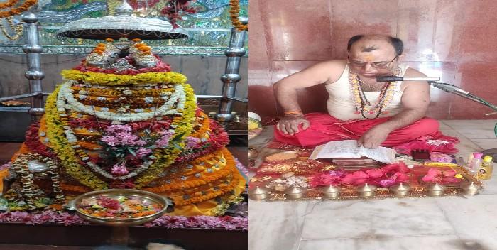 अम्बिका भवानी मंदिर में नवरात्र के महाष्टमी को हुई विशेष पूजा