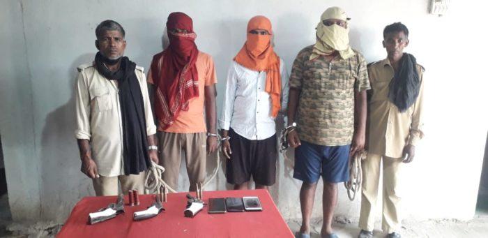 सारण में लूट की बड़ी घटना को अंजाम देने आये लूटेरों को पुलिस ने दबोचा, 3 देशी पिस्तौल बरामद