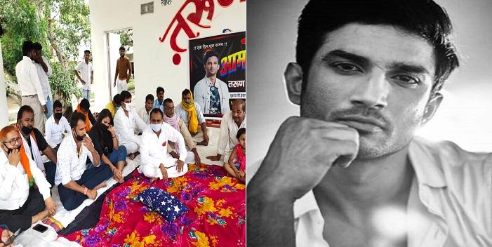 सारण: सीबीआई जाँच कराने की माँग को लेकर आमरण अनशन पर बैठे भोजपुरी अभिनेता