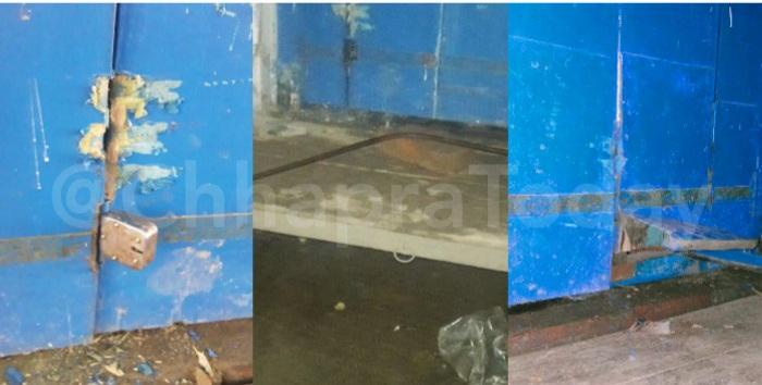 दुकान में चोरी के प्रयास करते चोर को लोगो ने पकड़ा, पुलिस के किया हवाले