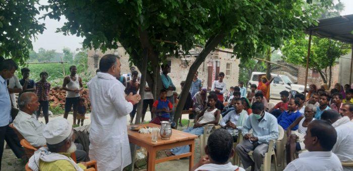 तरैया में जनसभा कर जदयू नेता ने नितीश सरकार की उपलब्धियों को गिनाया