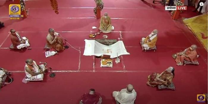 प्रधानमंत्री नरेंद्र मोदी ने अयोध्या में श्रीराम मंदिर निर्माण की रखी शिला, भूमि पूजन सम्पन्न
