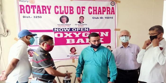 रोटरी क्लब छपरा ने ऑक्सीजन बैंक की शुरुआत की
