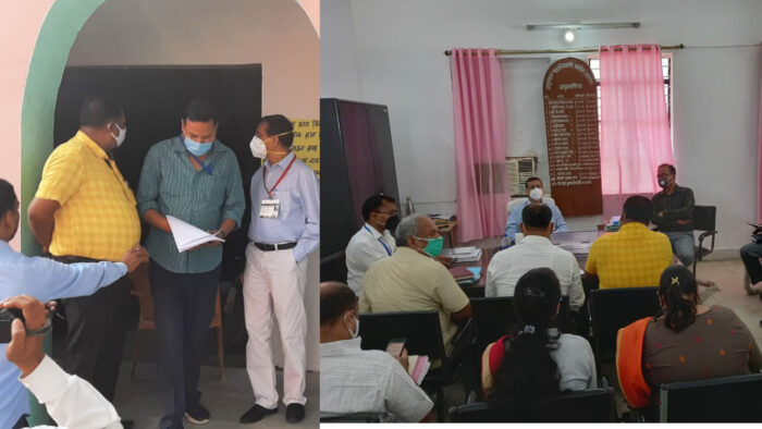 समान्य प्रेक्षक ने मढ़ौरा अनुमंडल कार्यालय में की समीक्षा बैठक, नाको एवं कई मतदान केन्द्रों का किया निरीक्षण