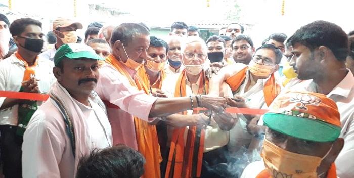रिविलगंज में एनडीए के चुनाव कार्यालय का हुआ उद्घाटन