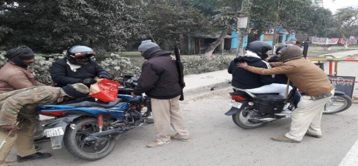 सारण पुलिस ने जिले में चलाया सघन वाहन चेकिंग अभियान