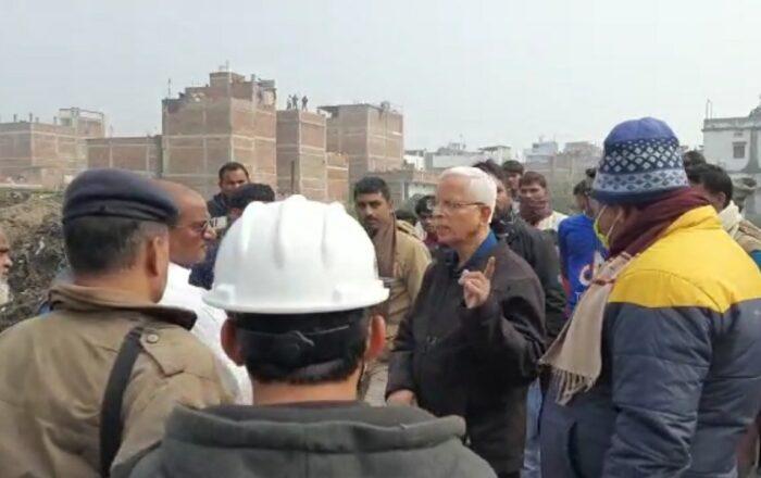 विधायक ने नमामि गंगा प्रोजेक्ट के तहत खनुवा नाला निर्माण कार्य का किया निरीक्षण