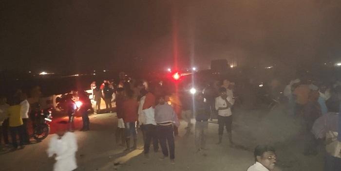 आरा-छपरा पुल के दक्षिणी छोर पर गोली लगने से सह चालक की मौत