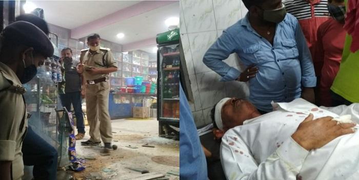 छपरा में बेखौफ अपराधियों ने की बमबाज़ी, 2 लोग घायल