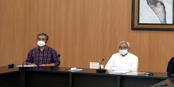 मुख्यमंत्री नीतीश ने कोरोना पर की समीक्षा बैठक, टीकाकरण की ली जानकारी