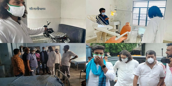 तेज प्रताप यादव ने सारण के स्वास्थ्य केंद्रों का किया निरीक्षण, कहा- कोरोना से लड़ाई में नीतीश सरकार नाकाम
