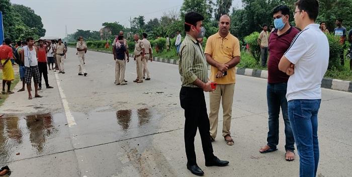 बिहार के मुजफ्फरपुर में सड़क दुघर्टना में चार की मौत, करीब 18 लोग घायल
