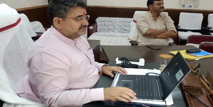 राजस्व एवं भूमि सुधार विभाग के अपडेट वर्जन वेबसाइट को मंत्री रामसूरत राय ने किया लॉन्च